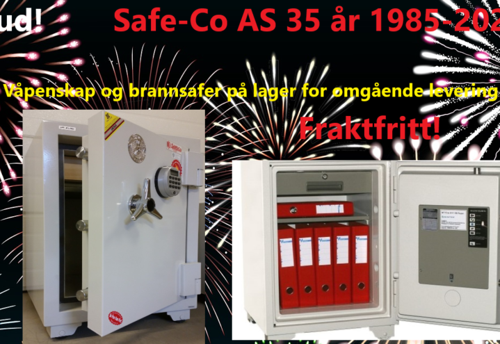 Jubileumstilbud! Safe-Co 35 år